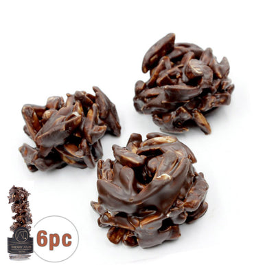 Dark Almond Clusters, 6pc - Thierry Atlan - Online Chocolate Shop New York