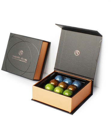 Assorted Caramel Domes, 9pc - Thierry Atlan - online store -Chocolate