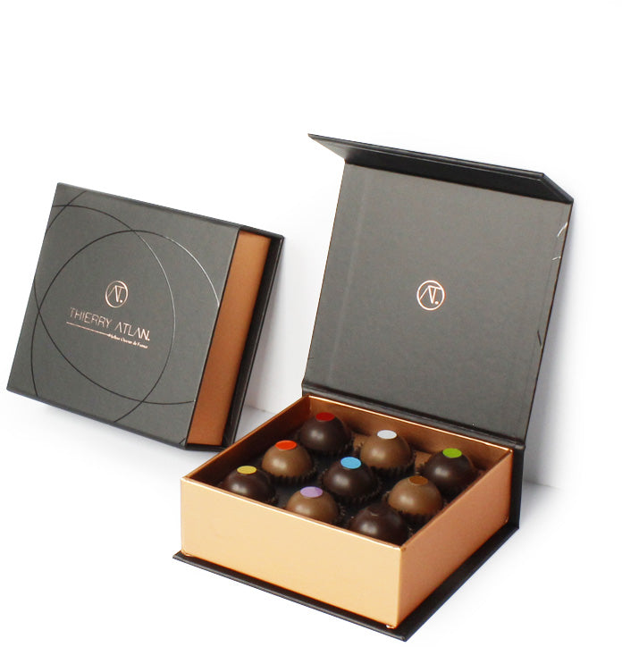 Caramel Collection, 9pc - Thierry Atlan - Online Chocolate Shop