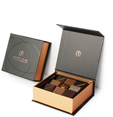 Assorted Chocolate Box, 9pc + Dark Almond - Store Chocolate New York