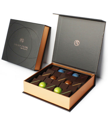 Dark Chocolate Box, 9pc - Thierry Atlan - online store New York - Chocolate
