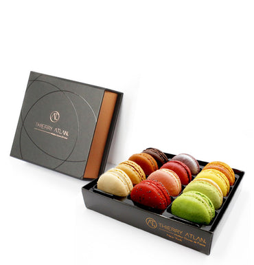 Box8 - Assorted Caramel Domes, 9pc + Macarons - Thierry's favorites, 12pc, store chocolate online new york
