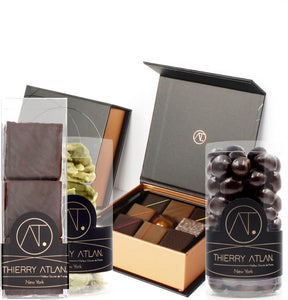 Box5 - Assorted Chocolate Box, 9pc + Chocolate Covered Espresso Beans, 5oz + Chocolate... - Thierry-ATLAN