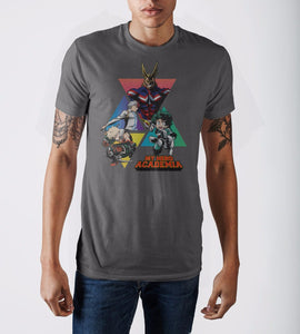 My Hero Academia Triangles Grey Men's T-Shirt