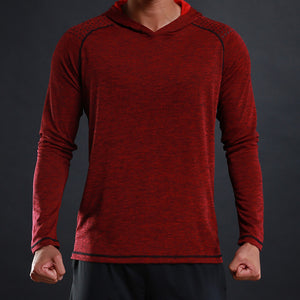 Casual Long Sleeve Slim Fit Men's Basic Hooded T Shirt