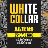 White Collar Coils Alien | Tri-Core 25-36 6 wraps