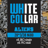White Collar Coils Alien | Tri-Core 28-38 6 wraps
