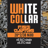White Collar Coils Fused Claptons | Dual-Core 28-38 6 wraps