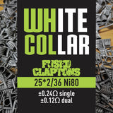 White Collar Coils Fused Claptons | Dual-Core 25-36 6 wraps