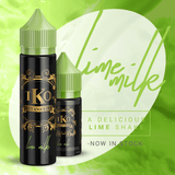 TKO Lime Milk:  Lime Milk is a delicious, creamy thick, lime infused milkshake. Main Flavor notes: Lime  Ice cream Milkshake Vape Juice E-Juice E-Liquid