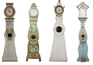 Mora clocks of different designs & colours