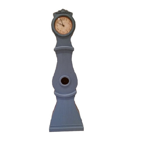 Reproduction Mora clock hand painted blue