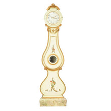 Fryksdall Mora clock in cream with carved detailing