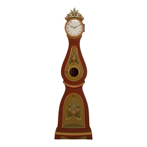 Mora clock with hand painted flowers