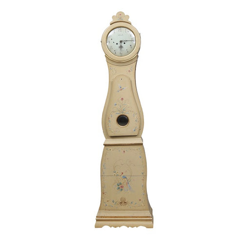 Swedish Mora Clock with beautiful floral painting