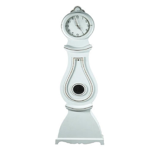 19th Century white painted Swedish Clock