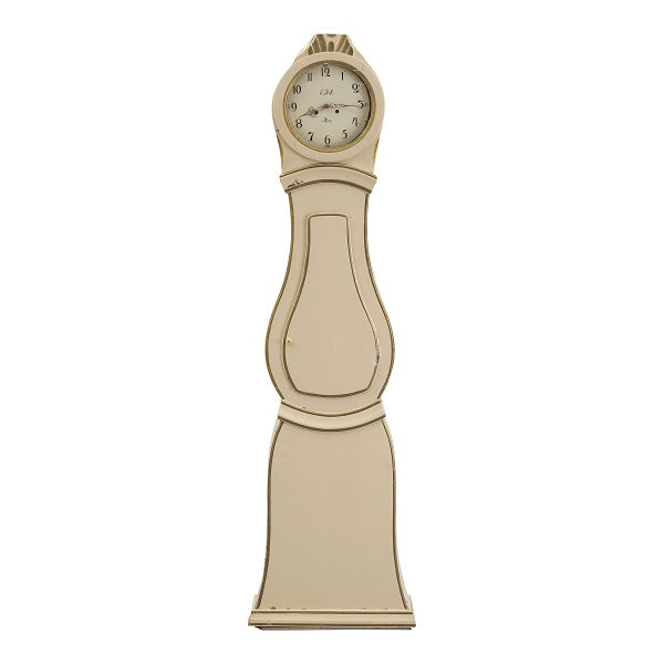 Mora clock in cream and gold paint