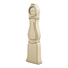 Mora clock in cream and gold paint - side view