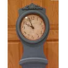 Reproduction Mora clock hand painted blue - face detail