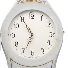 Antique Mora Clock in white carving to crown - face