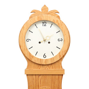 19th Century wooden Swedish Mora Clock - face detail