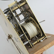 18th Century cream Mora Clock - side of mechanism
