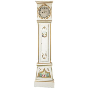 Male Swedish Mora clock in cream and gold