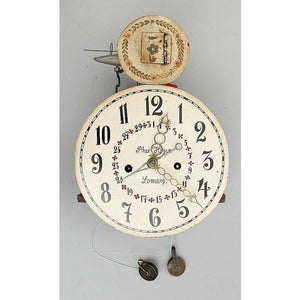 Rare brown cuckoo Mora clock with cuckoo mechanism