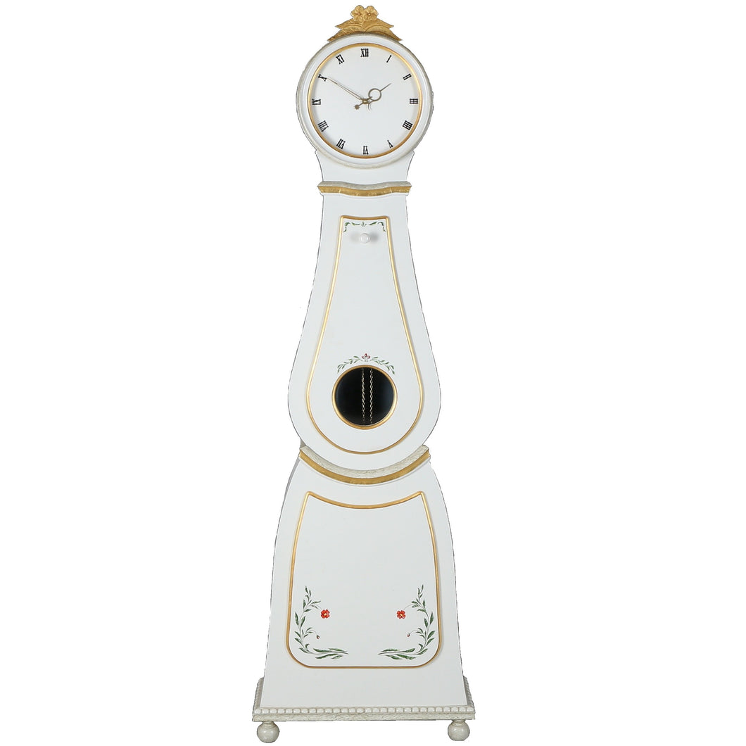1900's Mora Clock with painted floral details