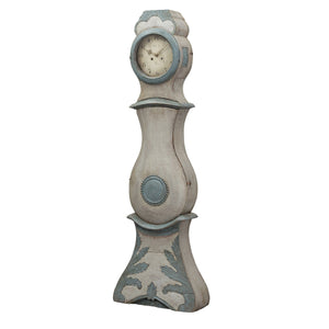 Mora Clock - blue/grey - side