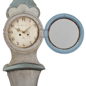 Mora Clock - blue/grey - face