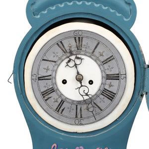 Mora clock Fryksdal blue face