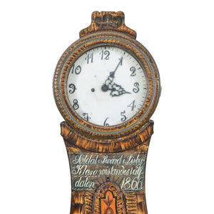 Antique Swedish Mora Clock - face