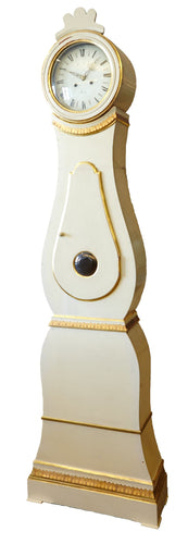 Classic Swedish White and Gold Mora Clock - details