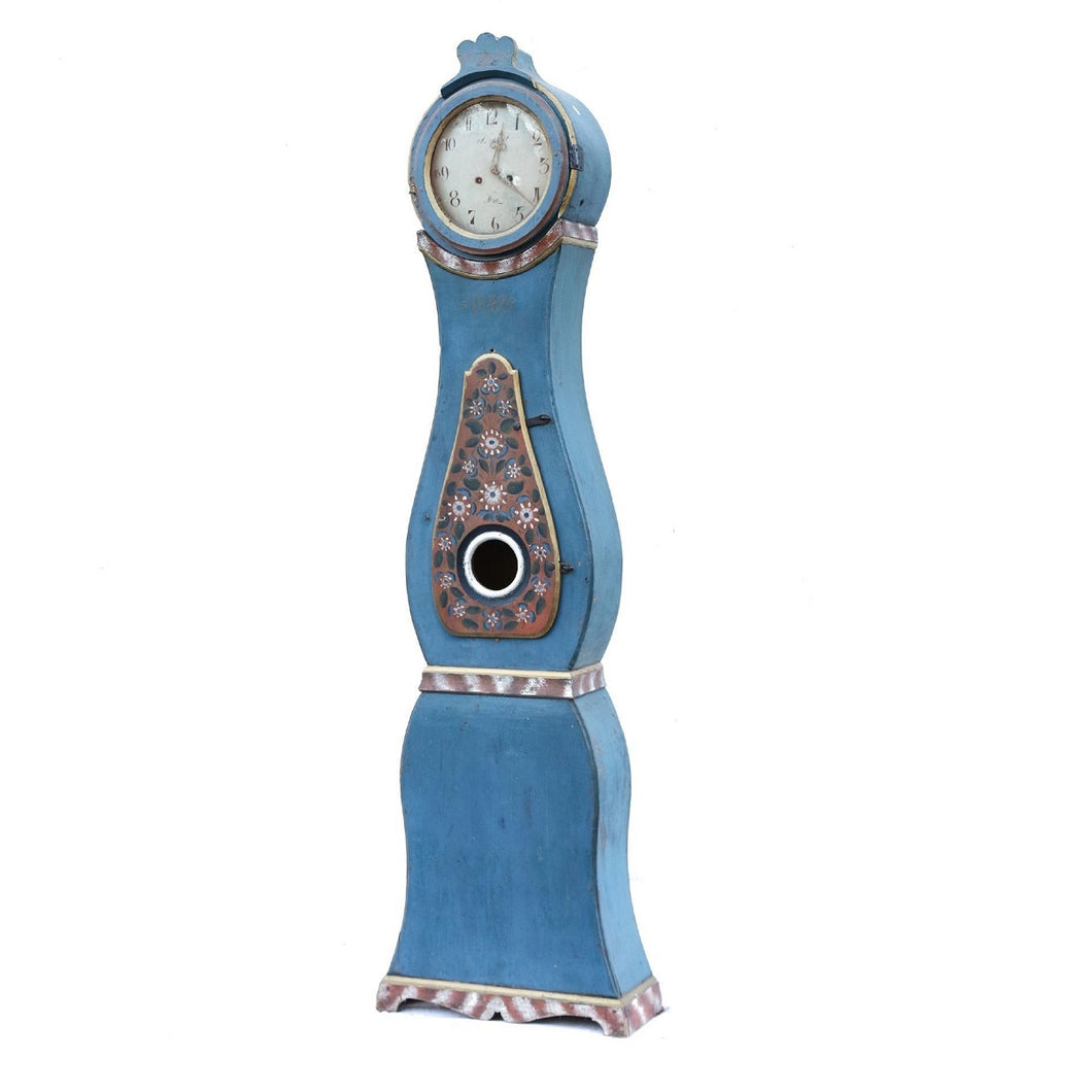 Mora Clock - blue paint