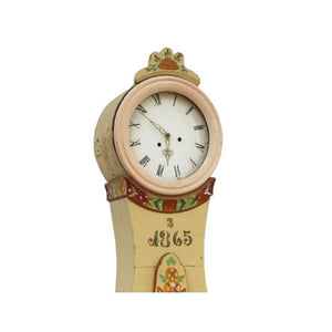 Antique painted Mora Clock - face