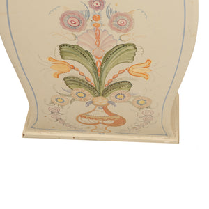 Mora clock with hand painted floral details - floral close up