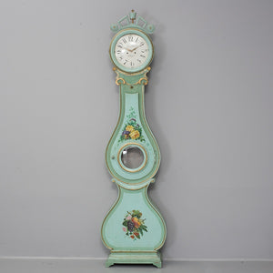 Antique Swedish Mora Clock 1800's with background