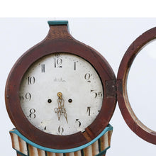 Antique Mora Clock - brown - face