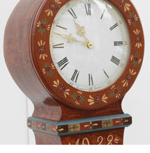 Mora clock - floral painted patterns - face