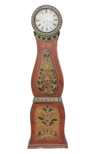 Classic Swedish Mora Clock with folk painting