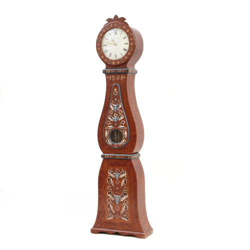 Mora clock - floral painted patterns