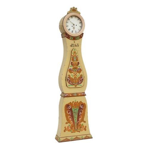 Antique painted Mora Clock