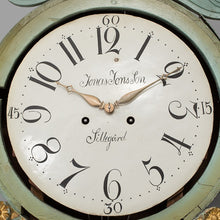 Antique Swedish Mora Clock 1800's face detail