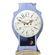 Mora clock 1817 scraped back to original paint - clock hood