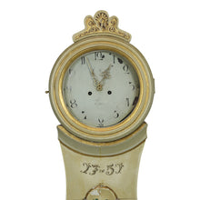 Mora clocks for sale - hand painted detailing on face - dated 1751