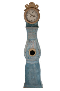 Blue Mora Clock with carving