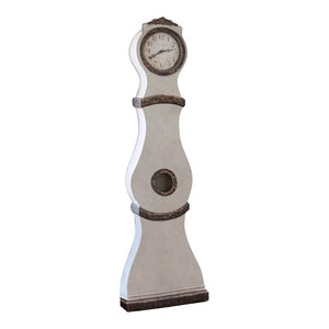 Reproduction Mora clock - chalk white with gold flecks