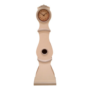 Reproduction Mora clock in white with grey painted detail