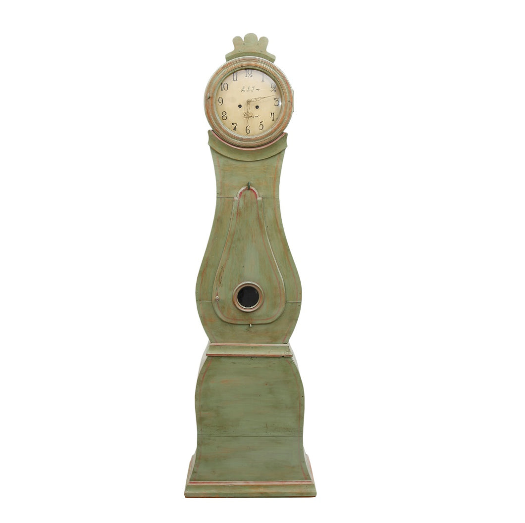 Original green painted Mora Clock